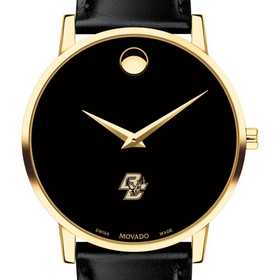 615789474791: Boston College Men's Movado Gold Museum Classic Leather