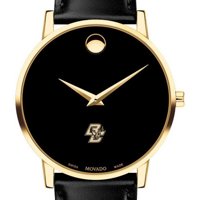 615789474791: Boston College Men's Movado Gold Museum Classic Leather