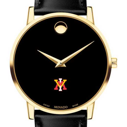 615789760429: VMI Men's Movado Gold Museum Classic Leather