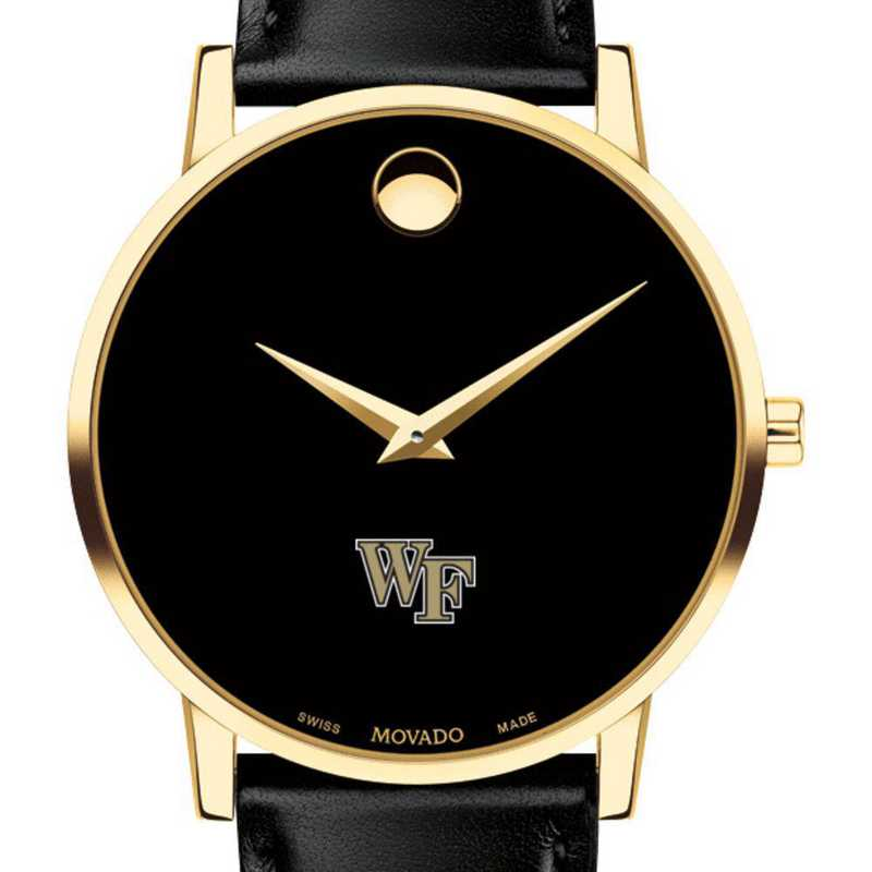 615789778479: Wake Forest Univesi Men's Movado Gold Museum Classic Leather