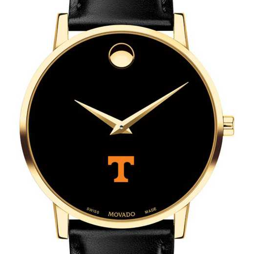615789874751: Univer of Tennessee Men's Movado Gold Museum Classic Leather