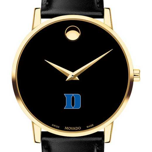 615789974215: Duke Univ Men's Movado Gold Museum Classic Leather