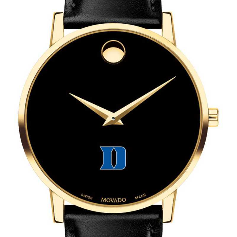 615789974215: Duke Univ Men's Movado Gold Museum Classic Leather