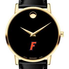 615789982913: Univ of Florida Men's Movado Gold Museum Classic Leather