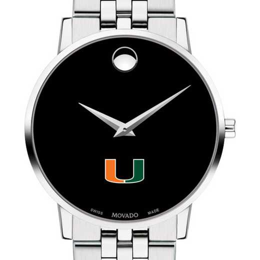 615789168713: University of Miami Men's Movado Museum with Bracelet