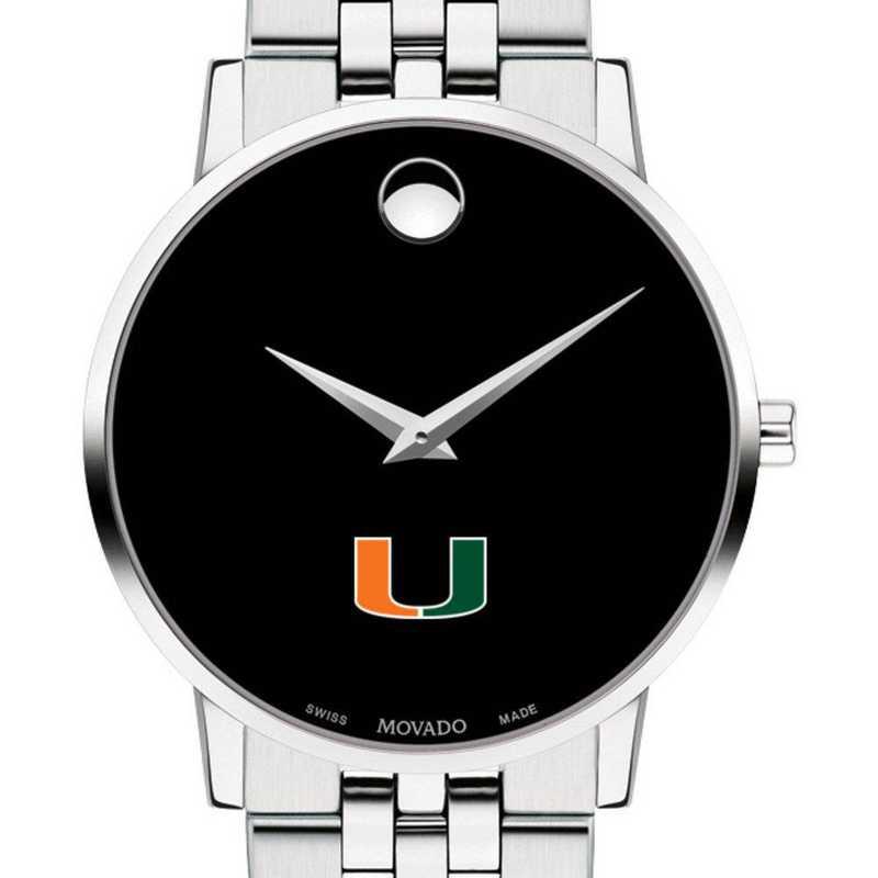 615789168713: University of Miami Men's Movado Museum with Bracelet