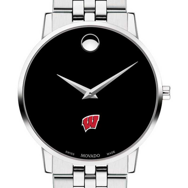 615789358787: Univ of Wisconsin Men's Movado Museum with Bracelet