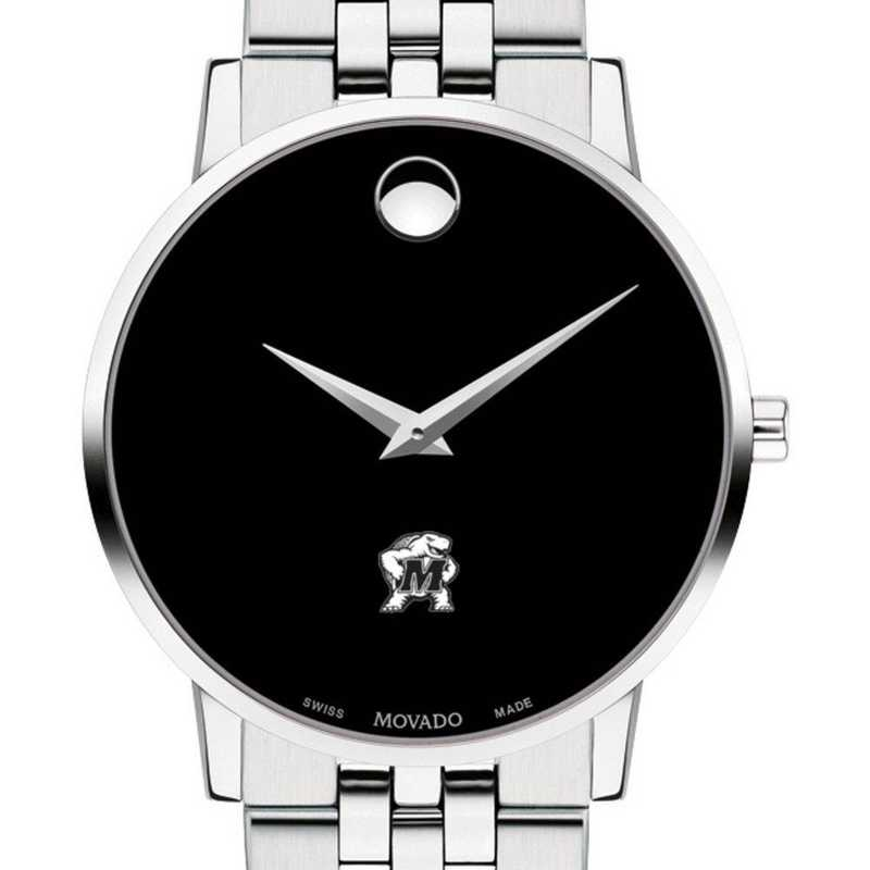 615789445869: Univ of Maryland Men's Movado Museum with Bracelet