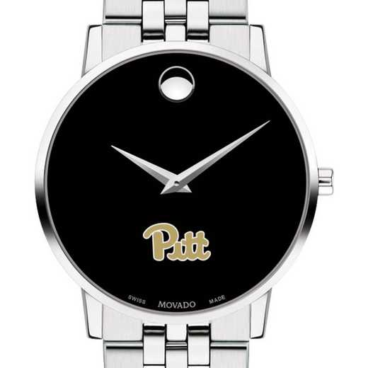 615789456933: Pitt Men's Movado Museum with Bracelet