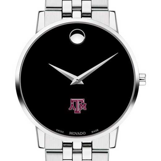 615789559078: Texas A&M Univ Men's Movado Museum with Bracelet