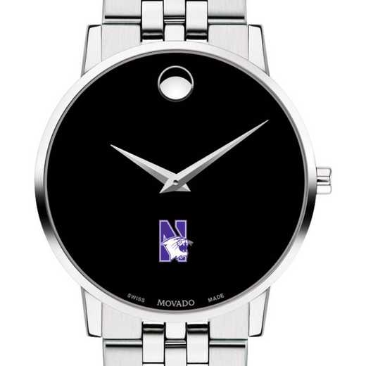 615789569985: Northwestern U Men's Movado Museum with Bracelet