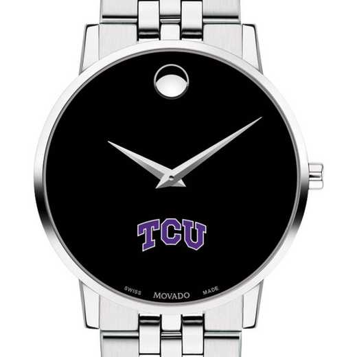 615789856818: Texas Christian Univ Men's Movado Museum with Bracelet