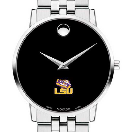 615789874331: Louisiana State Uni Men's Movado Museum with Bracelet