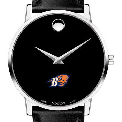 615789020974: Bucknell Univ Men's Movado Museum w/ Leather Strap