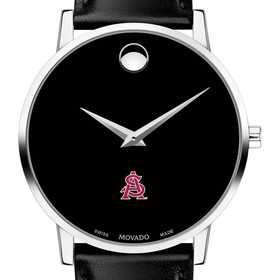 615789167488: Arizona State Men's Movado Museum w/ Leather Strap
