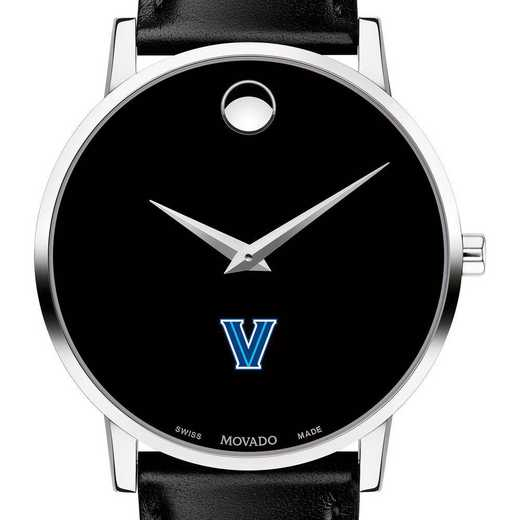 615789356127: Villanova Univ Men's Movado Museum with Leather Strap