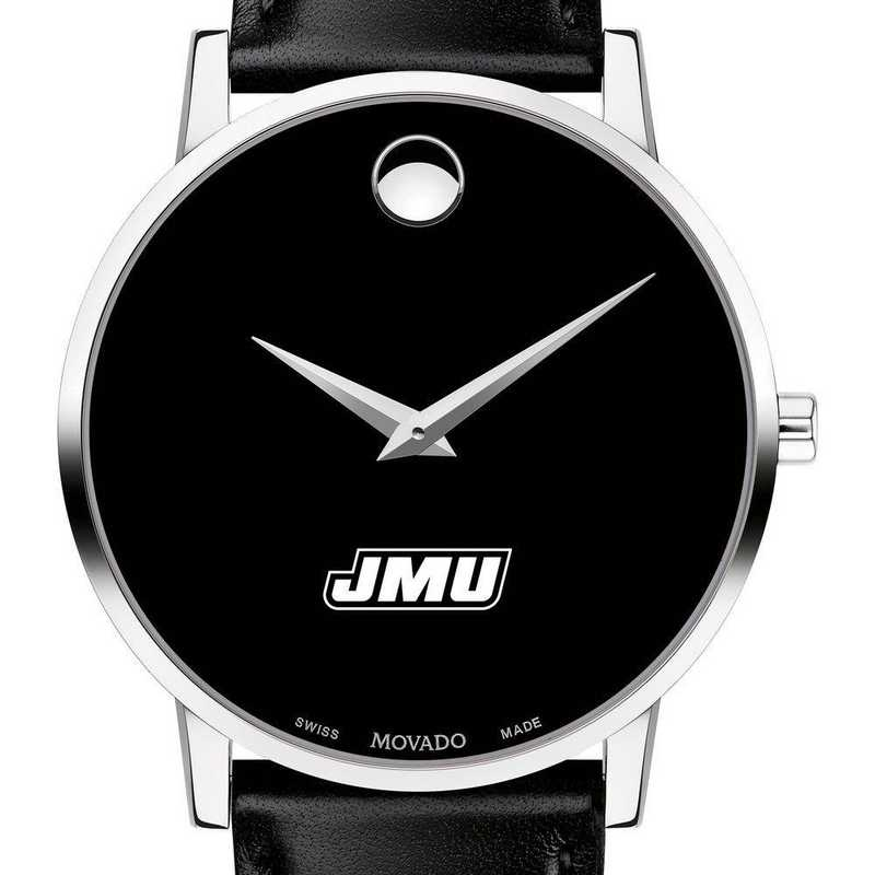 615789360520: James Madison Univ Men's Movado Museum w/ Leather Strap