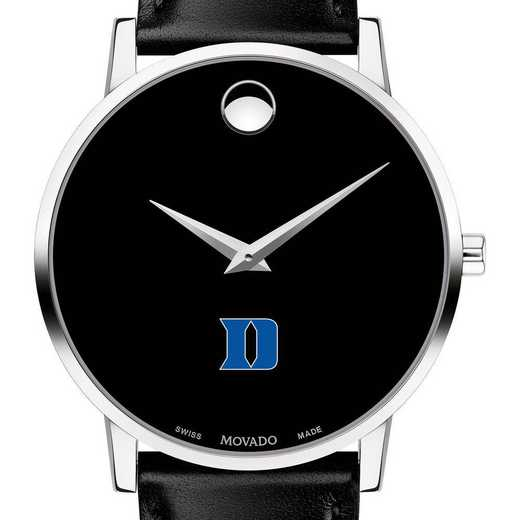 615789420217: Duke Univ Men's Movado Museum w/ Leather Strap