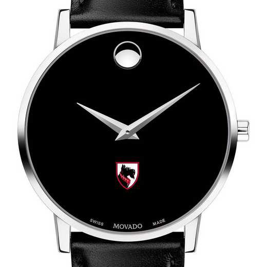 615789526940: Carnegie Mellon Univ Men's Movado Museum w/ Leather Strap