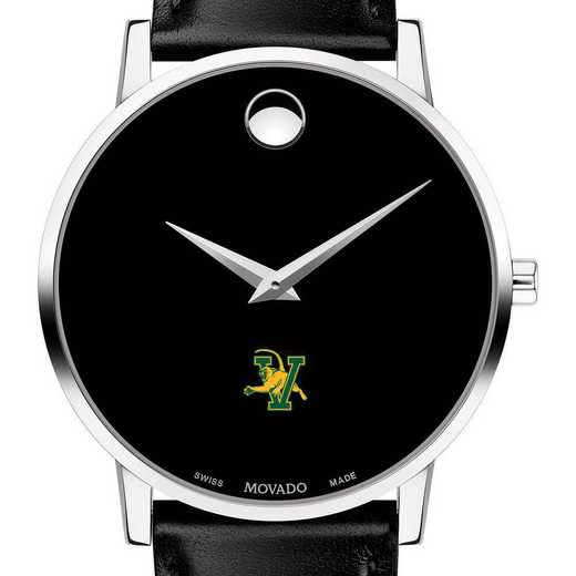 615789653684: Univ of Vermont Men's Movado Museum with Leather Strap