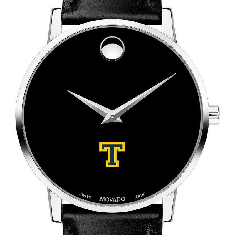 615789702139: Trinity College Men's Movado Museum with Leather Strap