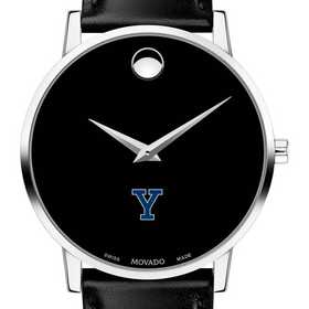615789715306: Yale Univ Men's Movado Museum with Leather Strap