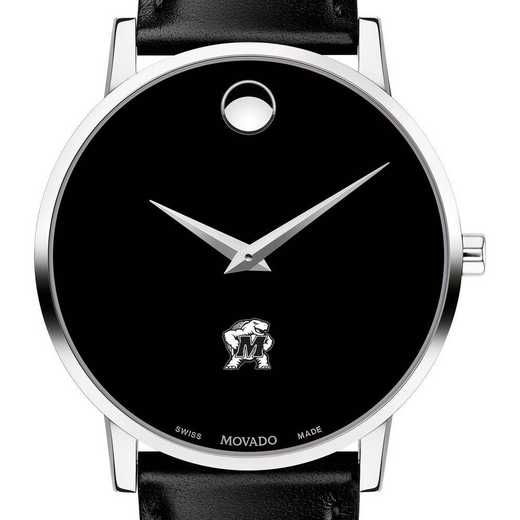 615789732587: Uni of Maryland Men's Movado Museum with Leather Strap