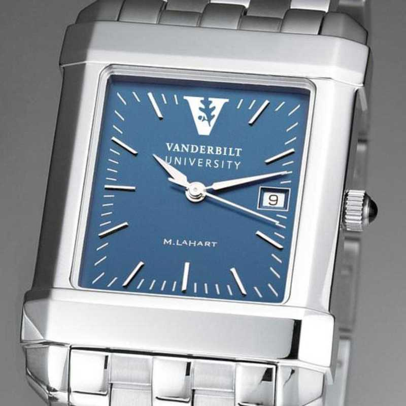 615789034285: Vanderbilt Men's Blue Quad Watch with Bracelet