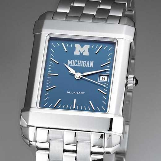 615789046585: Michigan Men's Blue Quad Watch with Bracelet