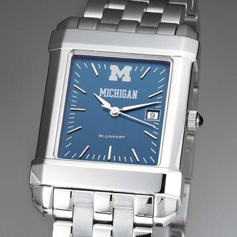 615789046585: Michigan Men's Blue Quad Watch with Bracelet