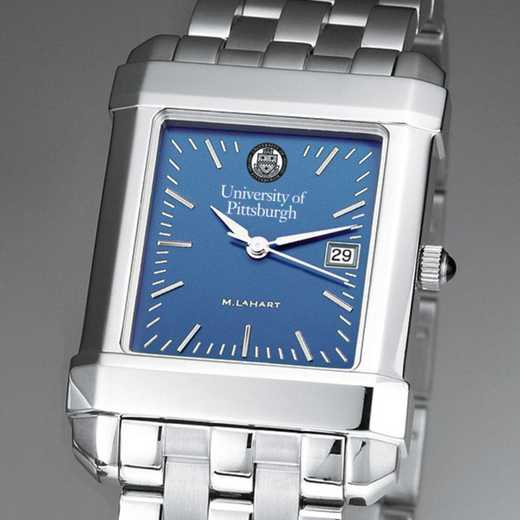 615789215684: Pittsburgh Men's Blue Quad Watch with Bracelet