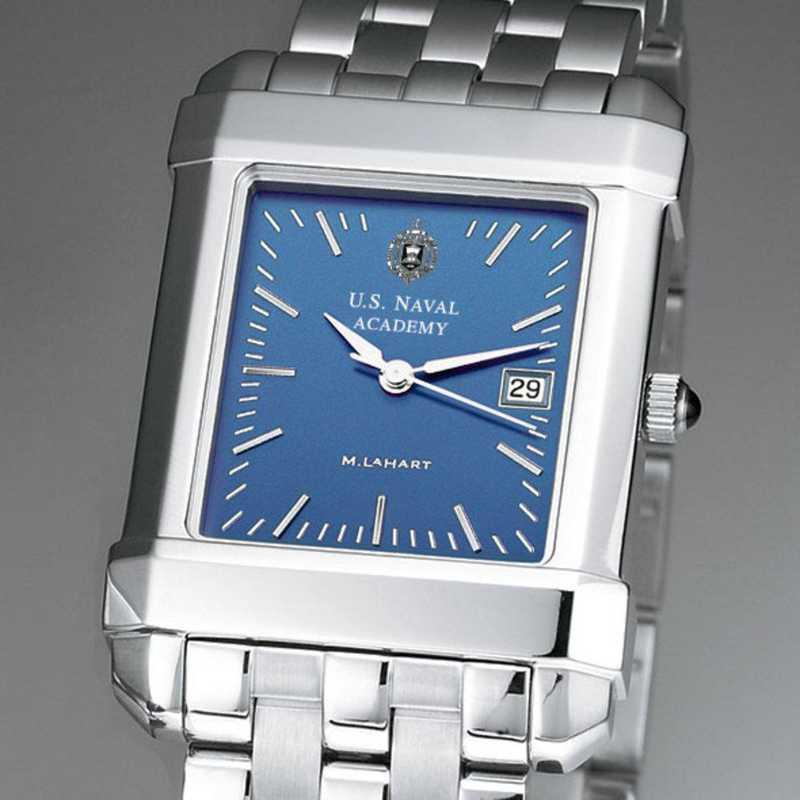 615789218661: USNA Men's Blue Quad Watch with Bracelet