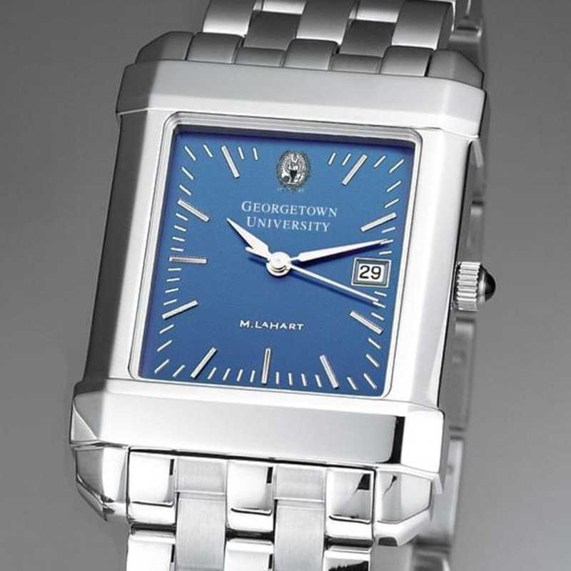 615789255994: Georgetown Men's Blue Quad Watch with Bracelet