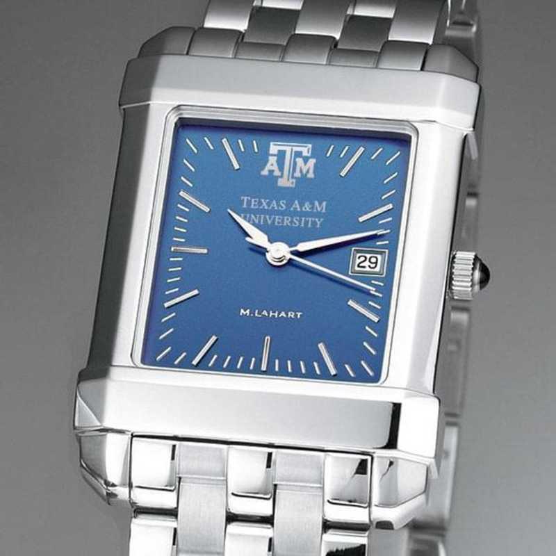 615789411024: Texas A&M Men's Blue Quad Watch with Bracelet
