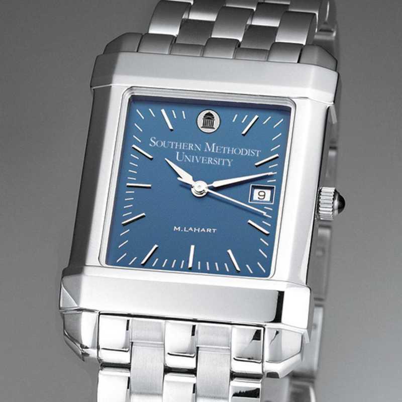 615789411109: SMU Men's Blue Quad Watch with Bracelet