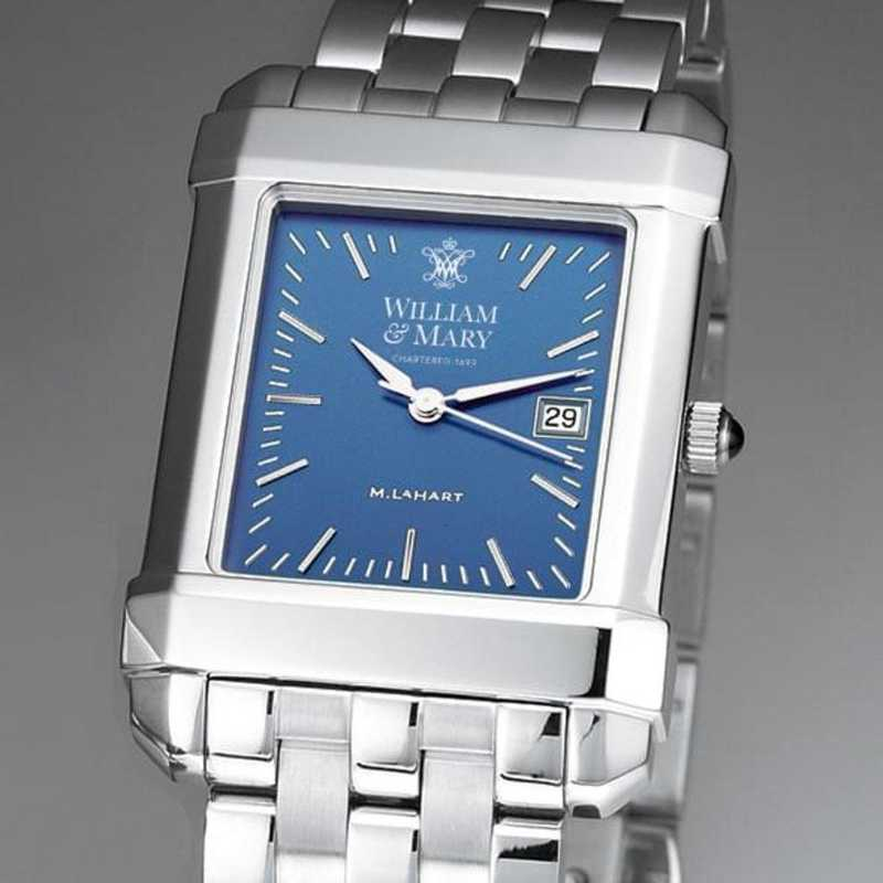 615789411260: William & Mary Men's Blue Quad Watch with Bracelet