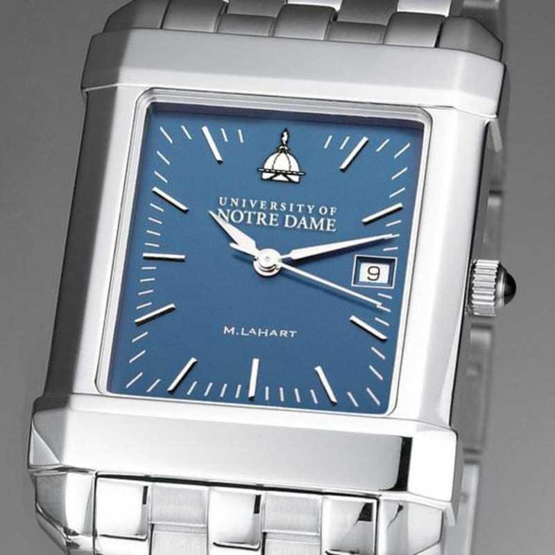 615789896074: Notre Dame Men's Blue Quad Watch with Bracelet
