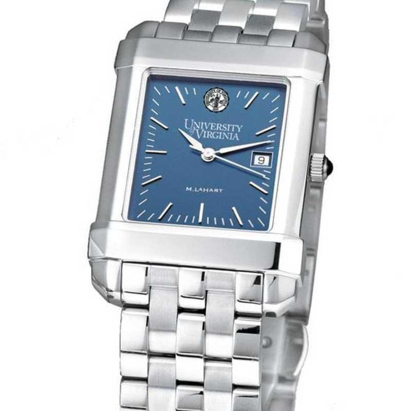 615789958772: UVA Men's Blue Quad Watch with Bracelet