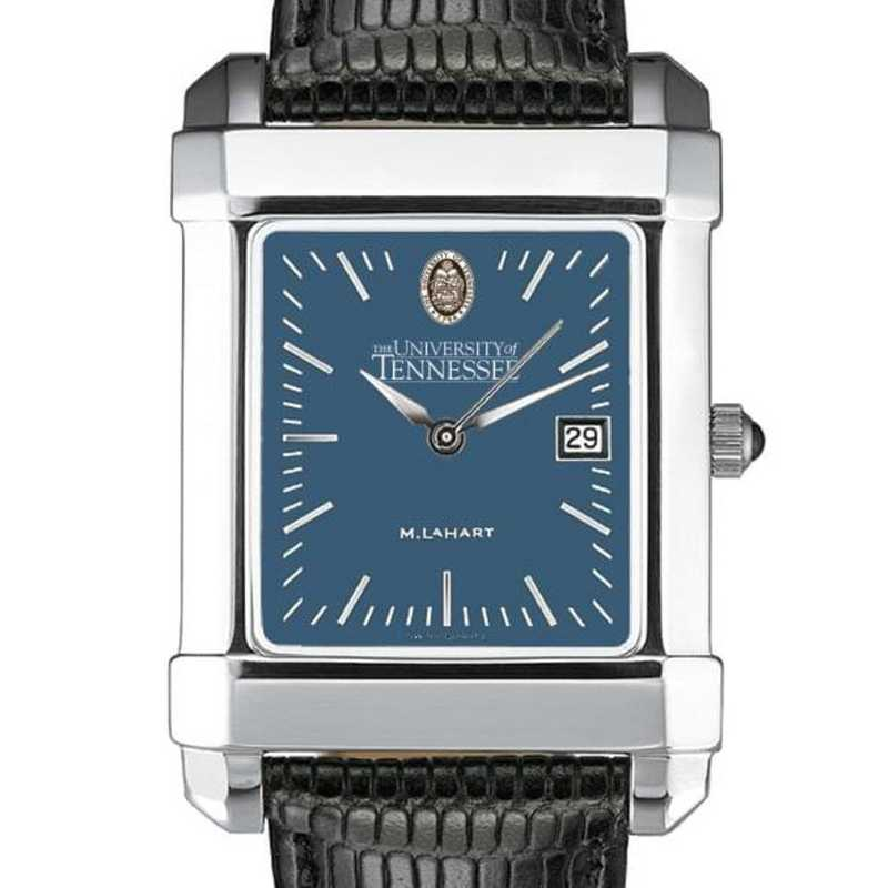 615789029335: Tennessee Men's Blue Quad Watch W/ Leather Strap