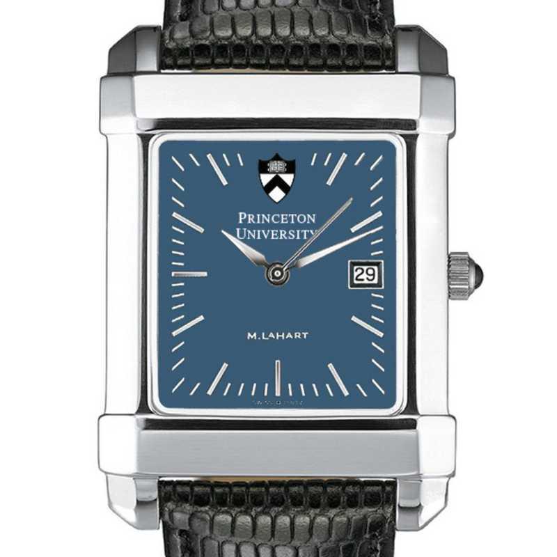 615789143482: Princeton Men's Blue Quad Watch W/ Leather Strap