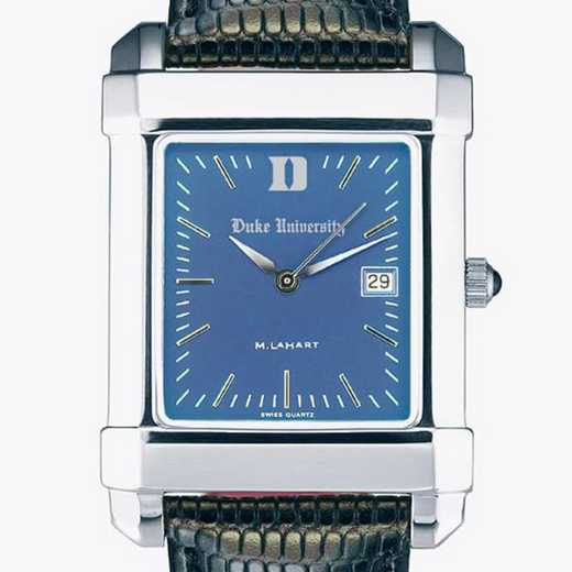 615789247609: Duke Men's Blue Quad Watch W/ Leather Strap