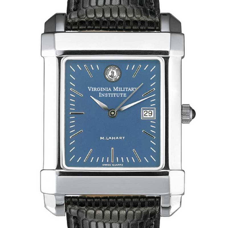 615789275886: VMI Men's Blue Quad Watch W/ Leather Strap