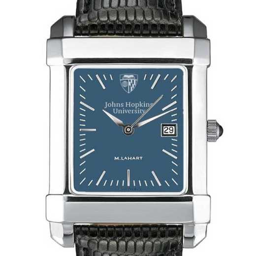615789521082: Johns Hopkins Men's Blue Quad Watch W/ Leather Strap