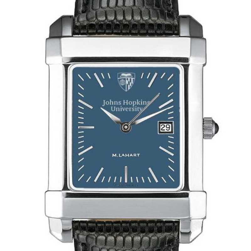 615789521082: Johns Hopkins Men's Blue Quad Watch W/ Leather Strap