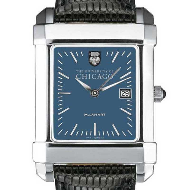 615789524601: Chicago Men's Blue Quad Watch W/ Leather Strap