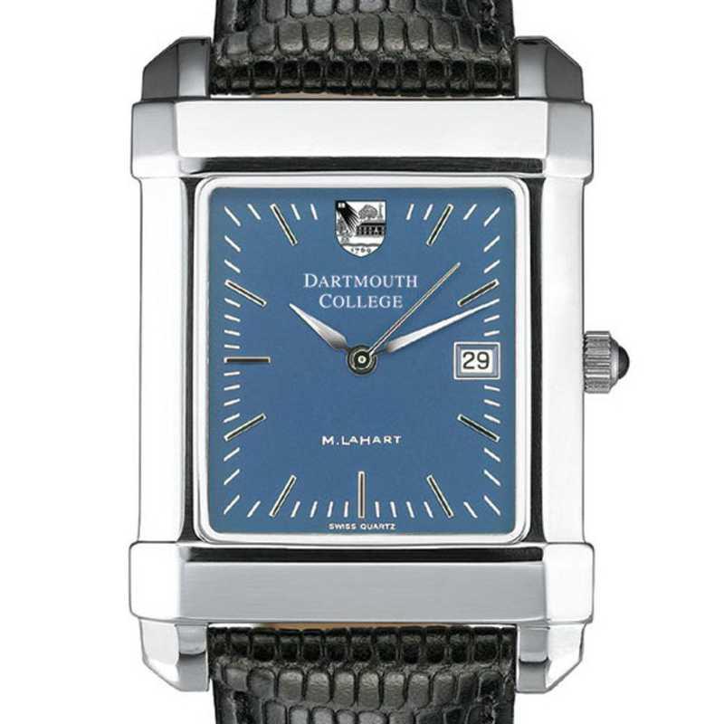 615789567721: Dartmouth Men's Blue Quad Watch W/ Leather Strap