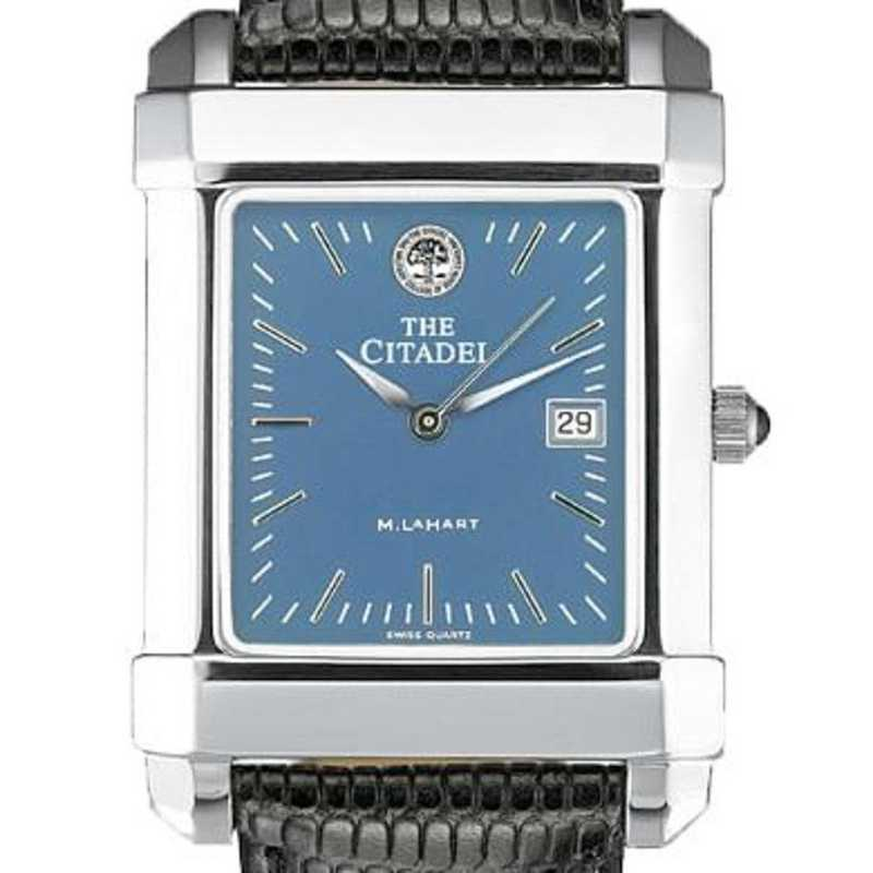 615789665243: Citadel Men's Blue Quad Watch W/ Leather Strap