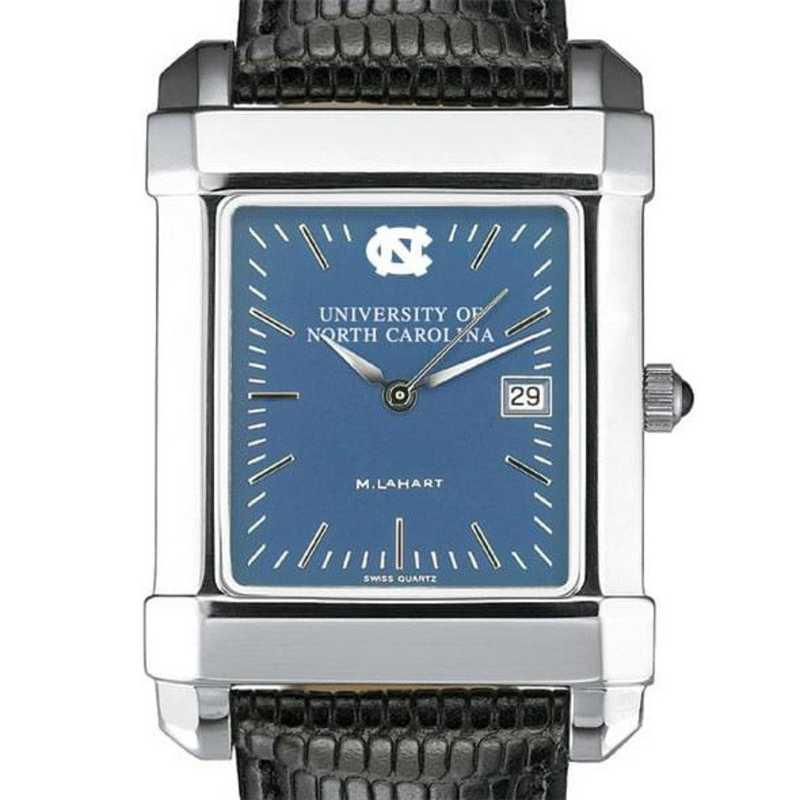 615789809753: UNC Men's Blue Quad Watch W/ Leather Strap