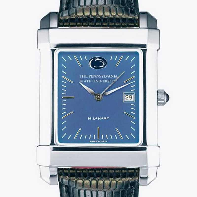 615789986294: Penn State Men's Blue Quad Watch W/ Leather Strap