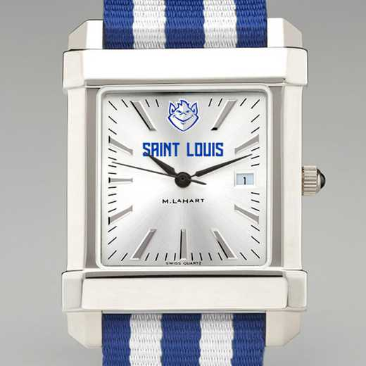 615789097891: Saint Louis Univ Collegiate Watch W/NATO Strap for Men